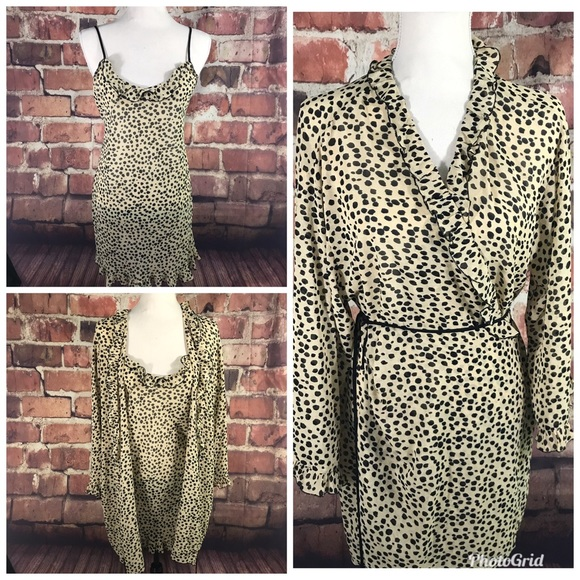 Josie Other - Josie lingerie chemise and robe Cheeta Print M